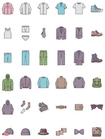 Set of the men clothes 版權商用圖片 - 33740614