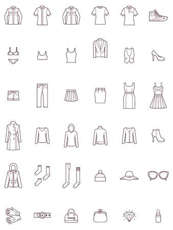 Set der Frauen Kleidung Standard-Bild - 33740617