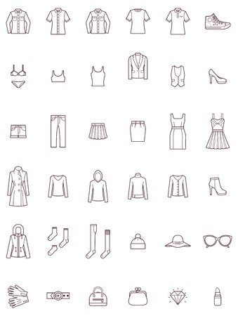 Set of the women clothes Stock Illustratie
