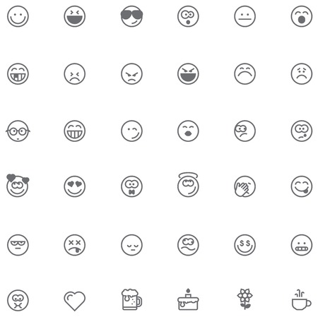 winking: Set of the simple emoticons