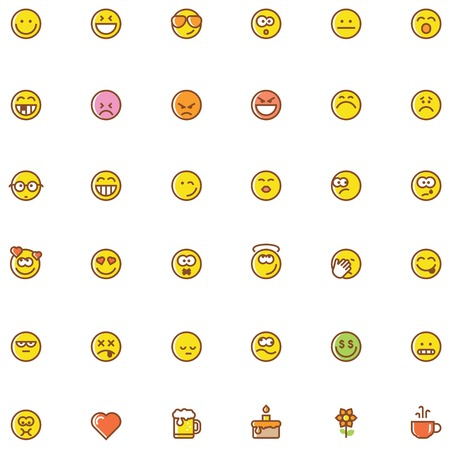 emoticons: Set of the simple emoticons