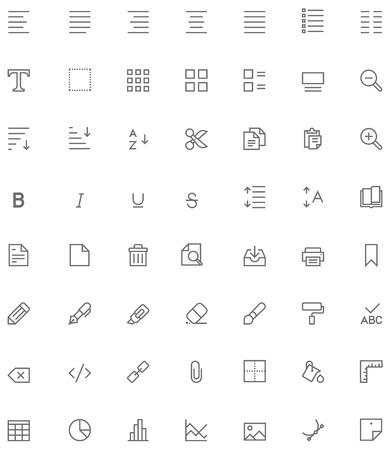 Définir des glyphes édition de documents liés Banque d'images - 35617613