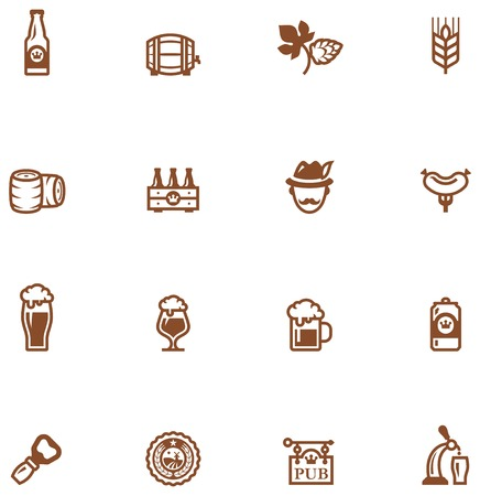 keg: Set of the beer  related icon