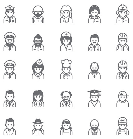 Set of the icons representing different people