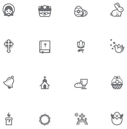 Set of the Easter related icons Vector