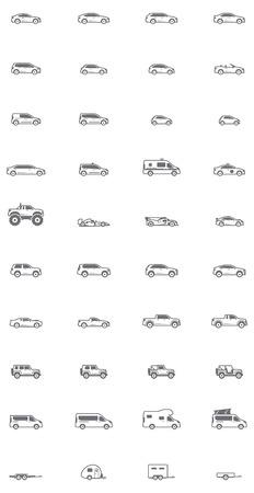 Conjunto de los diferentes tipos de coches Vectores