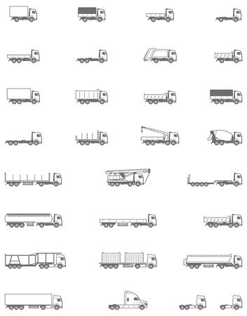 tanque: Conjunto de los diferentes tipos de vehículos de camiones