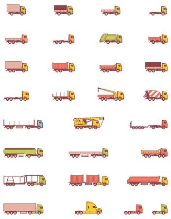 トラック車両の種類のセット