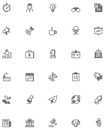 related: Set of the business related icons Illustration