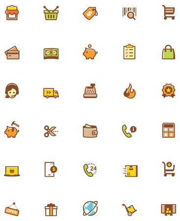 related: Set of the shopping related icons