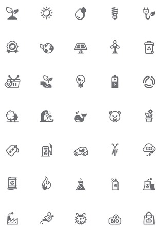 Set of the environmental icons Vector
