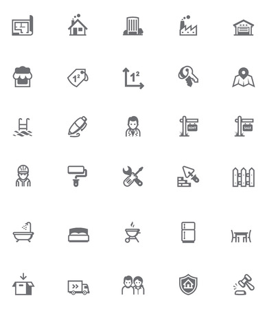 Set of the real estate related icons Illustration