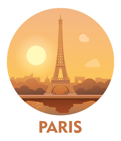 Vector icon representing Paris as a travel destination Illustration