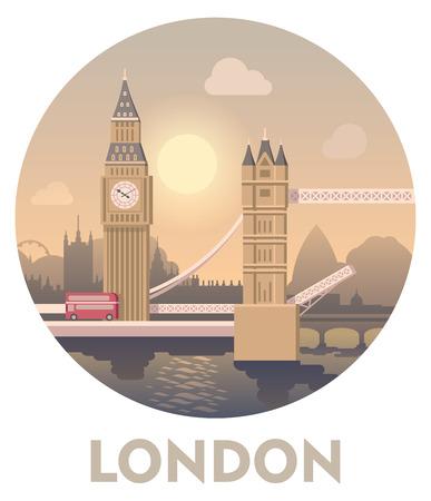 Vector icon representing London as a travel destination Vectores