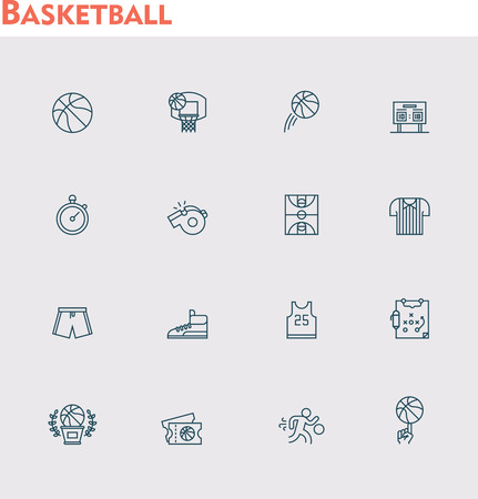 related: Set of the basketball related icons