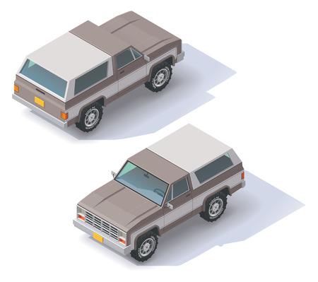 Isometrische Symbol für Sport Utility Vehicle Standard-Bild - 40828058