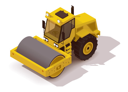 Isometric icon representing vibration roller Stock fotó - 41223789