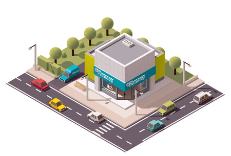 Vector isometric drugstore