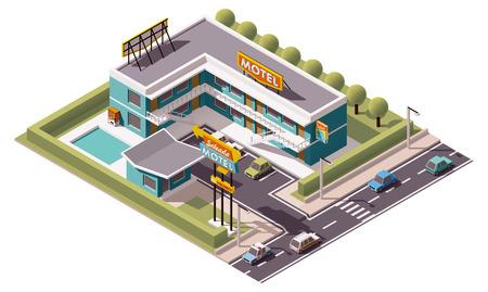 Vector isometric motel building icon 免版税图像 - 48543850