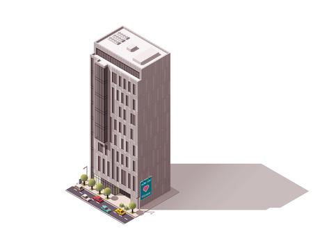 city street: Isometric icon representing city building