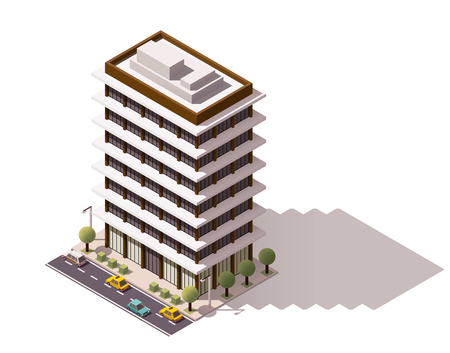 Isometric icon representing city building 免版税图像 - 49189346