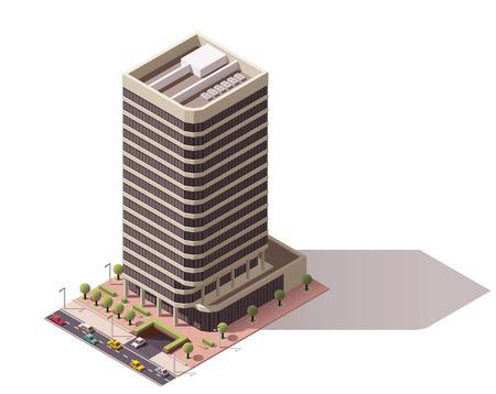 buildings city: Isometric icon representing city building