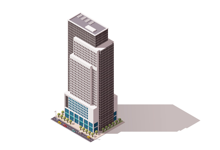 Isometric icon representing city building