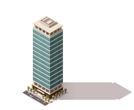 Isometric icon representing city building 免版税图像 - 49904376