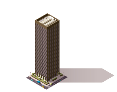 city building: Isometric icon representing city building