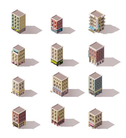 Définir des bâtiments de la ville isométriques
