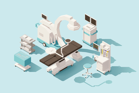 Vector isometric low poly operating room Stock fotó - 72270773