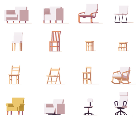 Vector stoelen set