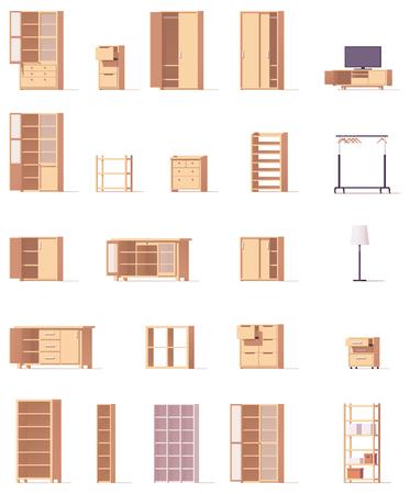 Zestaw szafek wektorowych