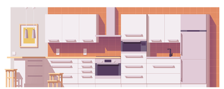 domestic: Vector kitchen illustration Illustration