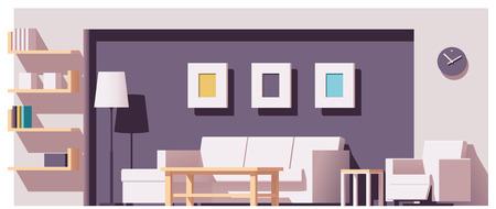 Vector living room