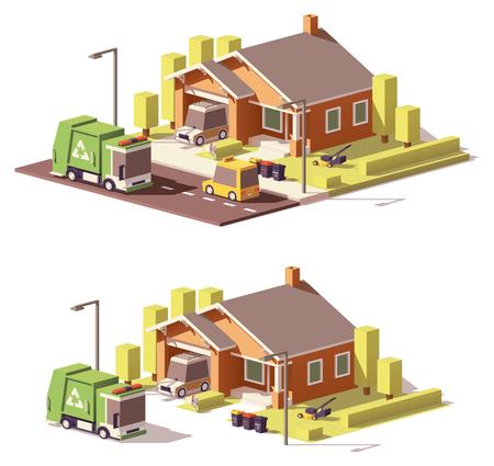 Vector icono de casa bajo de poli
