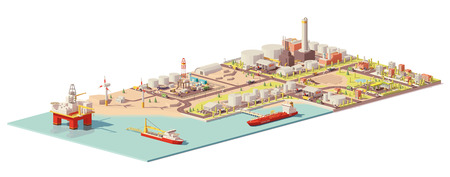 Vector oil extraction and consumption infographic