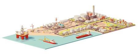 Vector Ölförderung und Verbrauch Infografik