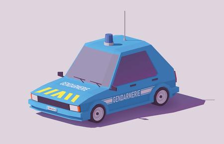 프랑스 경찰 그림입니다. 일러스트