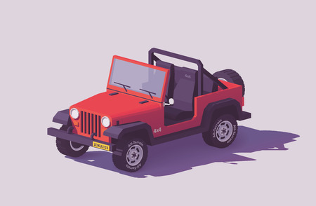 Vector low poly off-road 4x4 SUV car