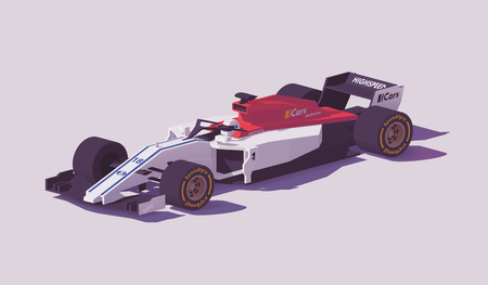 Vector low poly formula racing car Ilustrace