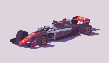 Vector low poly formula racing car Stock fotó - 94898491