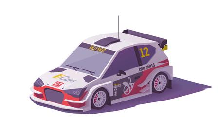 Vecteur low poly rallye voiture de course Banque d'images - 95257591