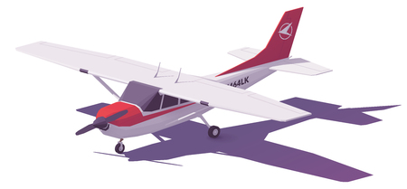 Vector low poly small airplane 写真素材 - 96695207