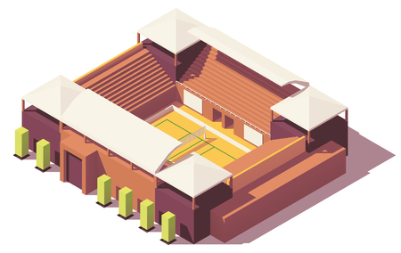 Vector low poly volleyball stadium