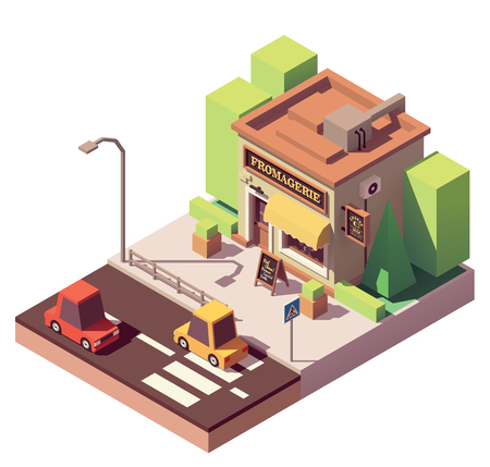 Vector isometric cheese shop Banque d'images - 102675077
