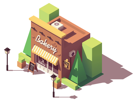 Vector isometric bakery shop Banque d'images - 102688824