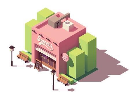 Vector isometric sweets shop