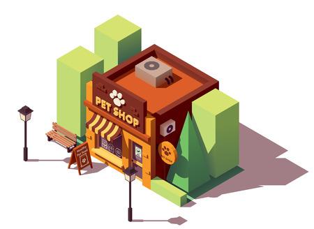 Vector isometrische dierenwinkel