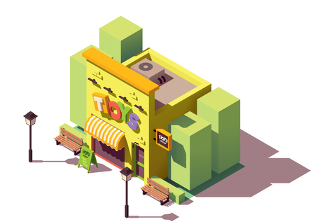 Vector isometric toy store